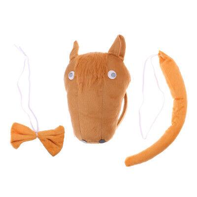 Pferd-Kostüm Set - Haarreif, Fliege und Schwanz, Kinder Kostüm für