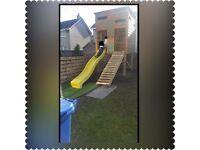 Kids Camo 'Gun Hut' 2 Tier Playhouse with Slide
