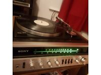 Sony Record Deck Radio Amp hif system with speakers HP511A classic 1980s vinyl player working well
