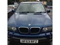 BMW X5 , good condition , a few scratches and dent in left but nothing major .