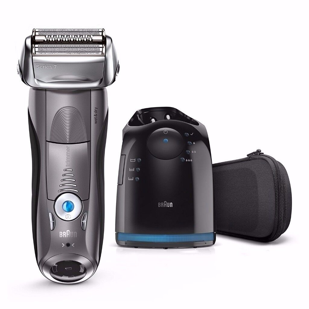 Braun 7865cc Electric Foil Shaver Wet Dry Clean Station Trimmer NEW WARRANTY