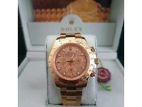 Gold ROLEX Gold bezel Gold Face Comes Rolex Bagged and Boxed wjth papetwork.