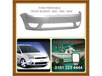 FORD FIESTA MK 6 FRONT BUMPER 2002 2003 2004 NEW NEW ( READY TO PAINT )