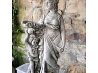 Selection of stone garden ornaments