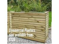 CHESHIRE DECKING PLANTERS