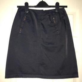 'DKNY' Jeans Deep Navy Blue Skirt - Size 6 (UK 2)