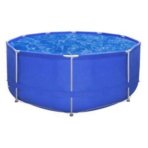 Steel Pro Round Swimming Pool Steel Frame Above Ground Garden Backyard 367x122cm