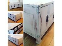 Pine coffee table storage unit