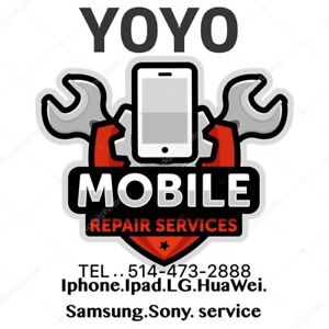 YOYO  iphone ipad Samsung LG ........service  819-669-0570