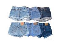 Vintage Levi's denim shorts Wholesale joblot