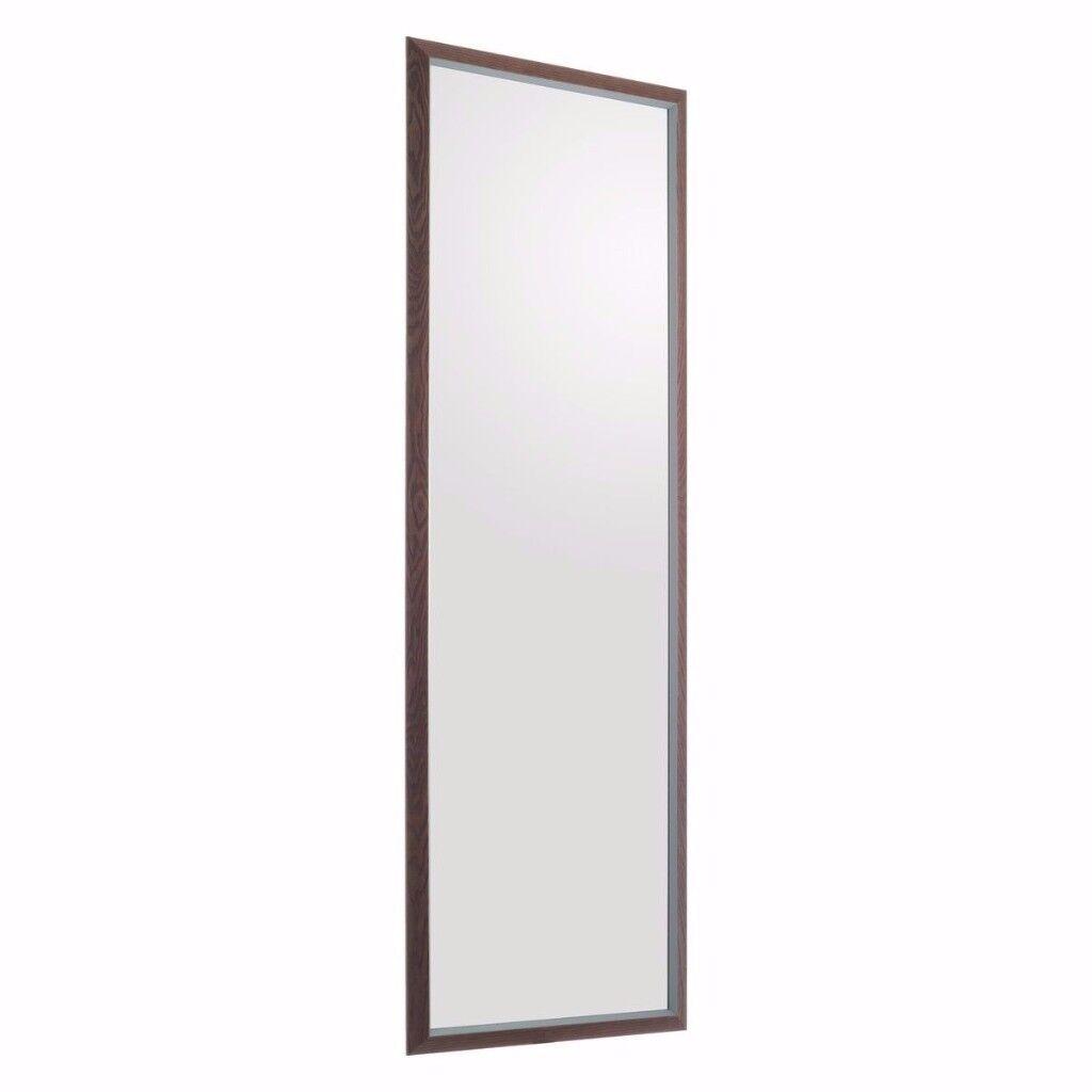 Habitat Contour full length Walnut frame Mirror 45 x 150cm