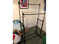 Two lined clothes rail