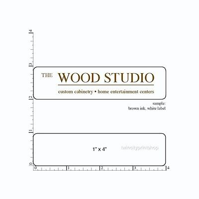 Custom Printed Labels 1 X 4 Rectangle 250 Business Stickers 1-color On Roll