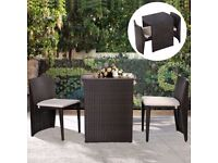 *FREE UK DELIVERY* 3 Piece High Table Rattan Garden Conservatory Set -BRAND NEW!
