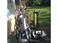 Full set of Dunlop golf clubs, Quality bag, Trolley, Shoes and 36 Golf Balls