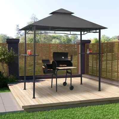 vidaXL BBQ Pavillon Anthrazit Stahl Barbecue Grillpavillon Gartenpavillon