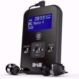 DAB Portable Pocket Radio & Headset