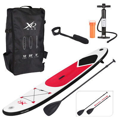 Red Paddle Board Sports Surf Inflatable Stand Up Water Racing SUP Bag Pump Oar