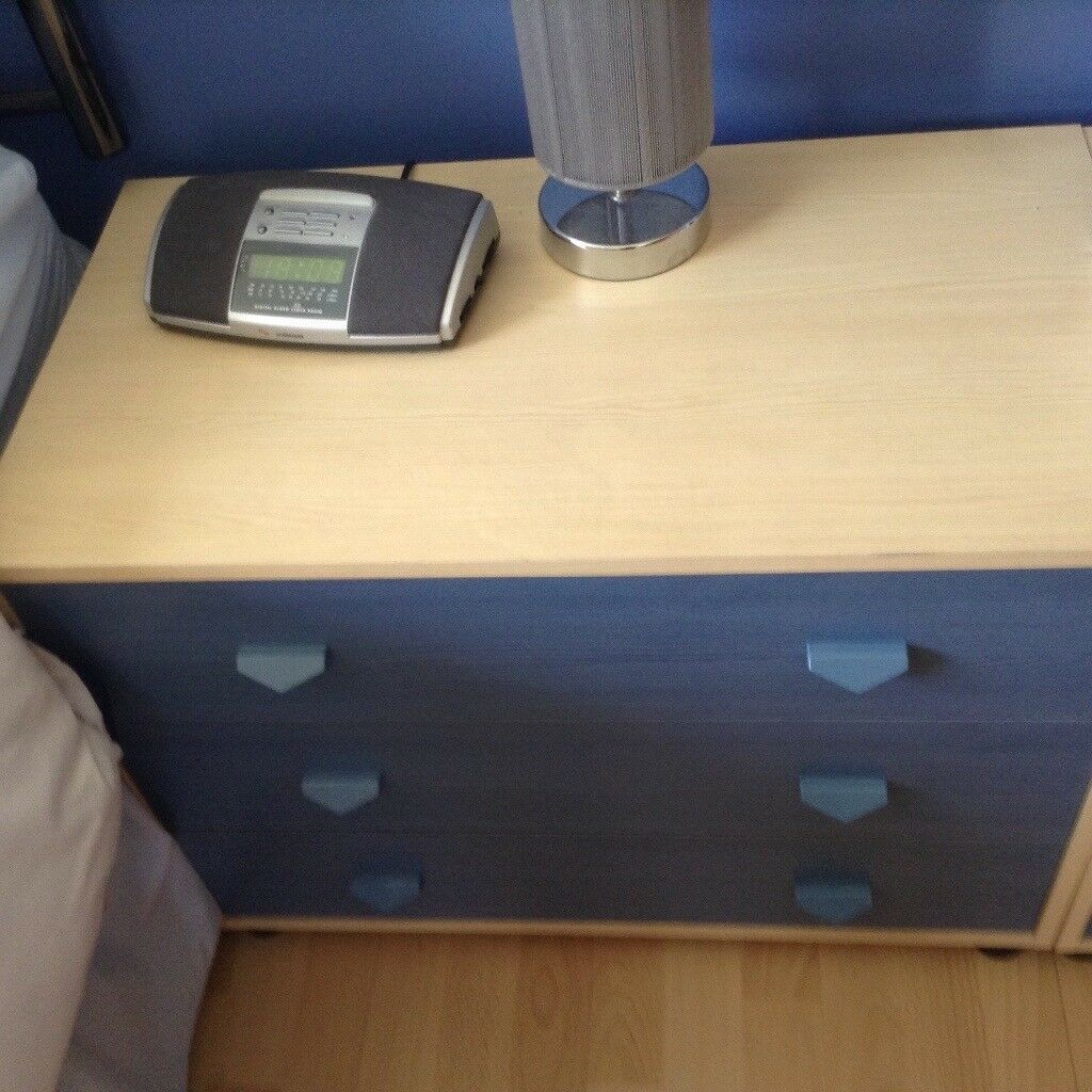 Blue and cream drawers