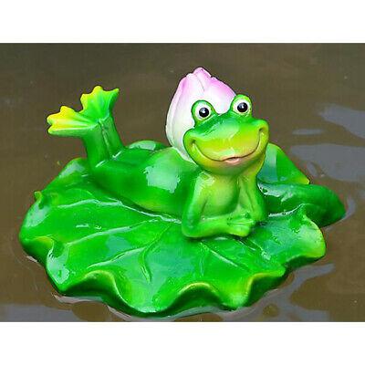 Schwimmende Frosch auf Blatt für Aquarium Garten Teich Dekoration (Aquarium Dekoration Garten)