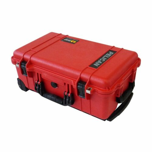Red & Black Pelican 1510 case. With Foam.
