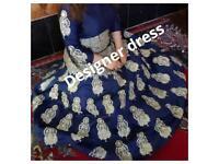 indian/pakistani designer blouse & skirt,new,bought for £600