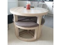 Space Saver Dining Room Table & 4 chairs