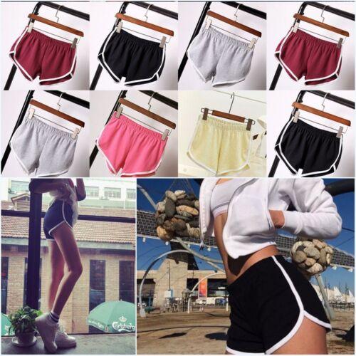 Women Girl Sports Shorts Running Gym Fitness Short Pants Workout Beach Casual UK