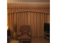 Curtains - two pairs, one full length one short
