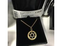 9ct Gold chain with star pendant- 11grams