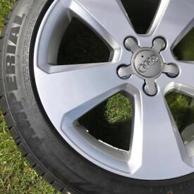 """Set of 17"""" Audi A3 alloys and tyres"""
