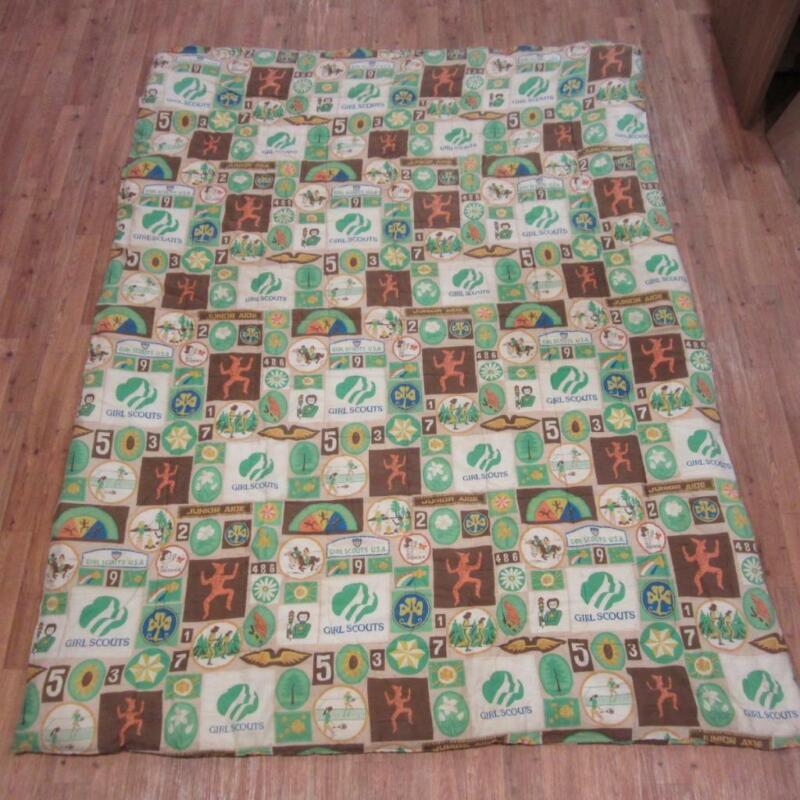 Vintage Girl Scouts Quilt Blanket Sleeping Bag