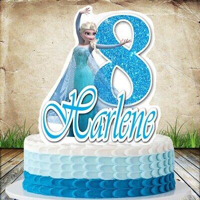 Frozen Elsa Cake Topper - Frozen Birthday Cake Topper