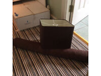 brown lampshade and draft excluder. NOW REDUCED!