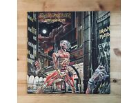 "Iron Maiden Somewhere In Time 12"" Vinyl LP 1986 EMI Records"