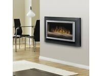 Dimplex Sahara Wall Mounted Fire- modern flush wall fitting with living flame effect