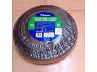 GARDEN ELECTRICAL WIRE - WICKES 3 CORE STEEL WIRE ARMOURED CABLE 2.5MM X 25M