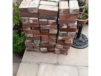 Reclaimed red stock bricks