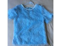 Girls/Ladies Baby Blue Fluffy Top