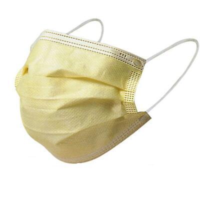 50x Mundschutz Masken Einweg Staub gelb
