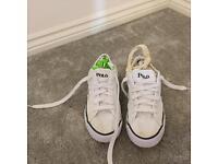 Size 8 polo Ralph Lauren men's white canvas trainers