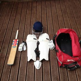 Junior Cricket Set (Pads, Bat, Helmet, Gloves, Box)