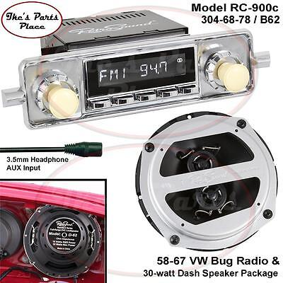 RetroSound LAGUNA-C Radio & Dash Speaker B-62 Combo Package 58-67 VW Beetle/Bug