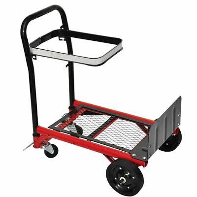 vidaXL Carrito plegable Carretilla aluminio plegable plataforma paquetes Ruedas