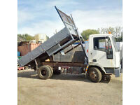 Iveco 75E15 7.5 Ton tipper. Manual injector pump. On springs suspension.
