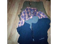 4 mens garments j,shirts & ackets, cadigan