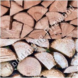 Seasoned Hardwood & Softwood Mix Firewood Logs 1m3 🔥