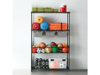 Extensive utility shelving system