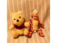 Vintage/retro Small Official Disney Winnie the Pooh (1978) & Tigger Plushies
