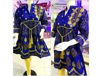 New 3piece Embroidered Stitched Shalwar Kameez Suit at Wholesale price